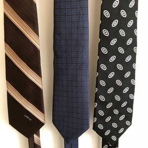 Other - Lot of 3 men's silk tie LANVIN GIVENCHY RL